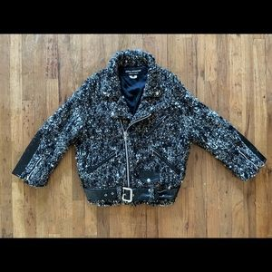 Junta Watanabe Commes des Garçon Wool Moto Jacket